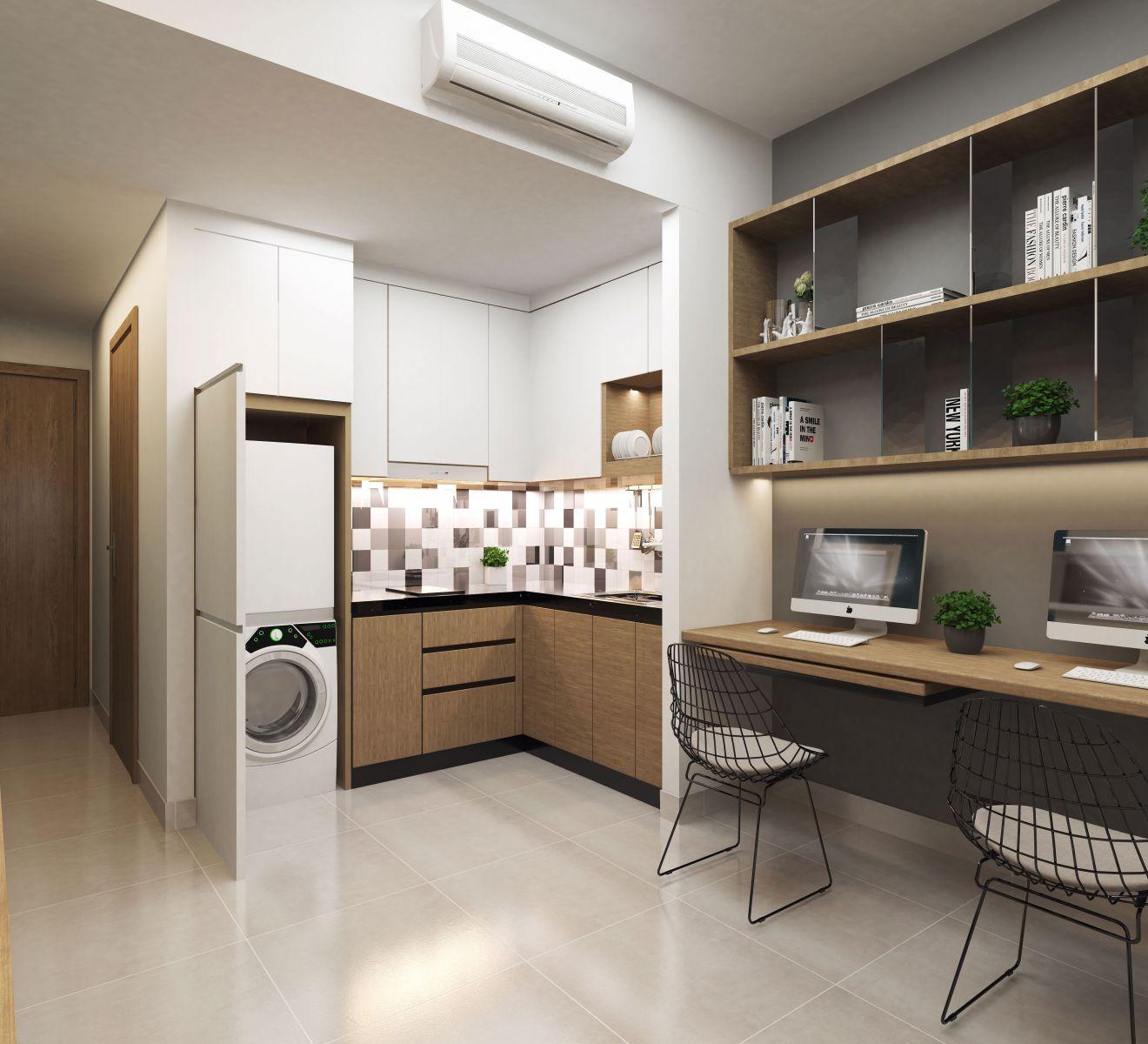 Mô hình căn hộ đa năng officetel
